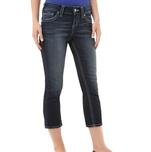 Silver Jeans  avril midrise crops